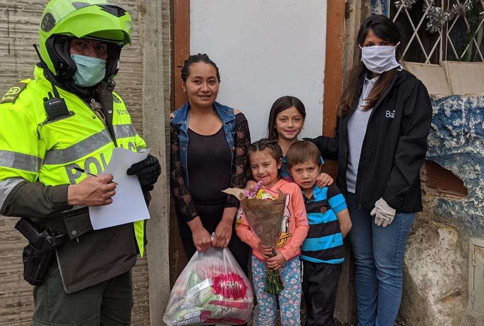 Entrega en Barrios rurales en Bogotá